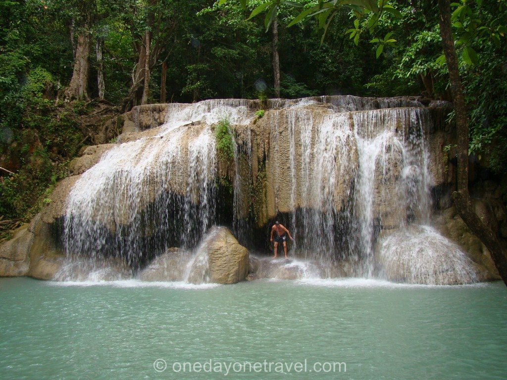 Erawan cascade Kanchanaburi Thaïlande Blog Voyage