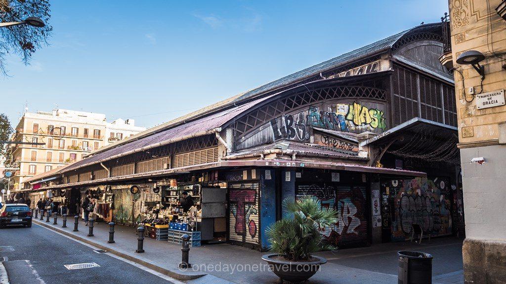 Gracia Barcelone marché