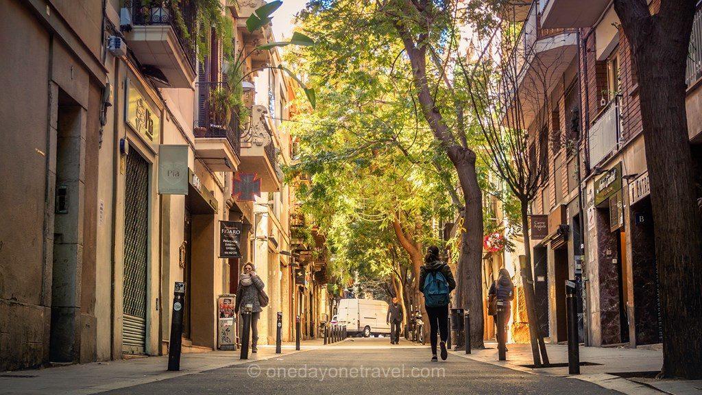 Gracia Barcelone rue