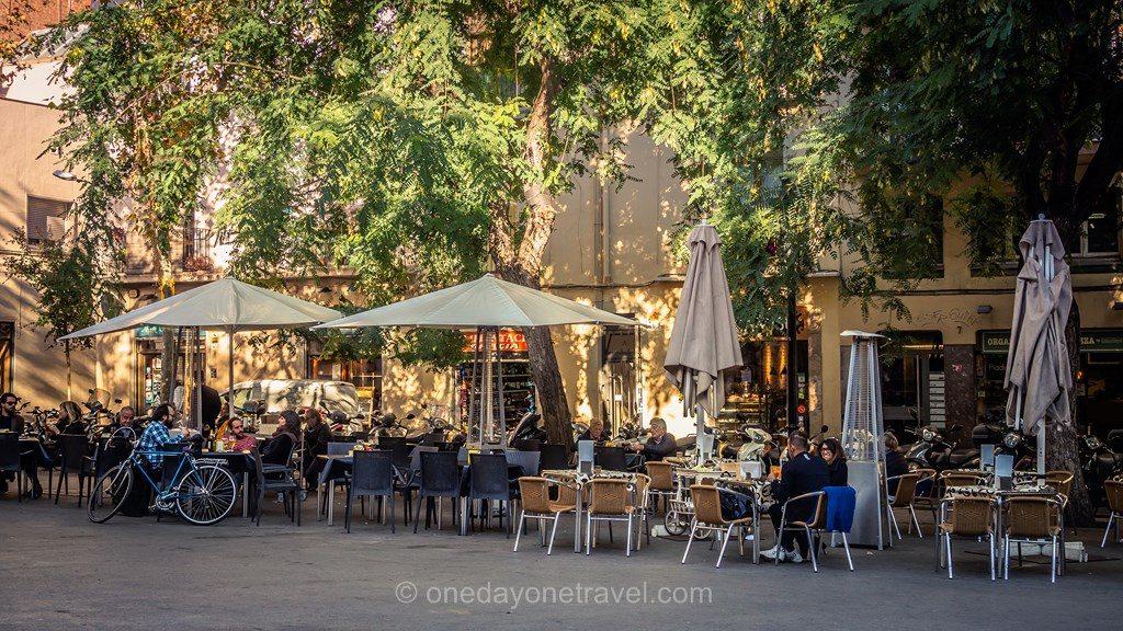 Gracia Barcelone terrasse