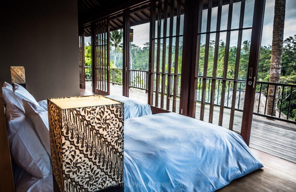 Chambre à l'Hoshinoya resort Ubud - Où dormir à Bali ?