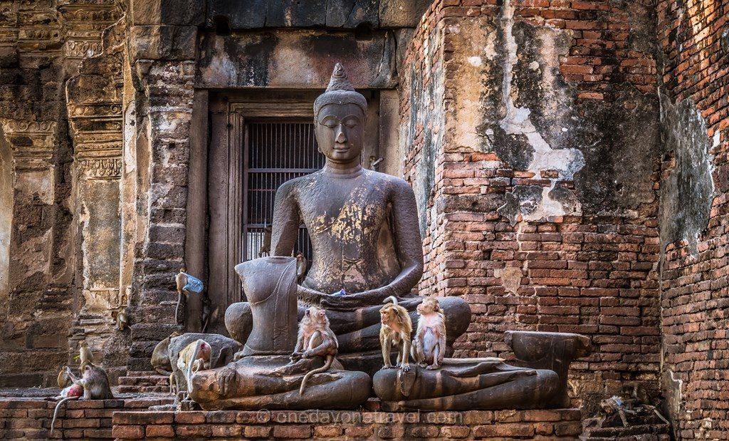 Lopburi Thaïlande temple des singes