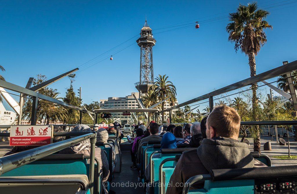 Montjuic barcelone bus touristique blog voyage