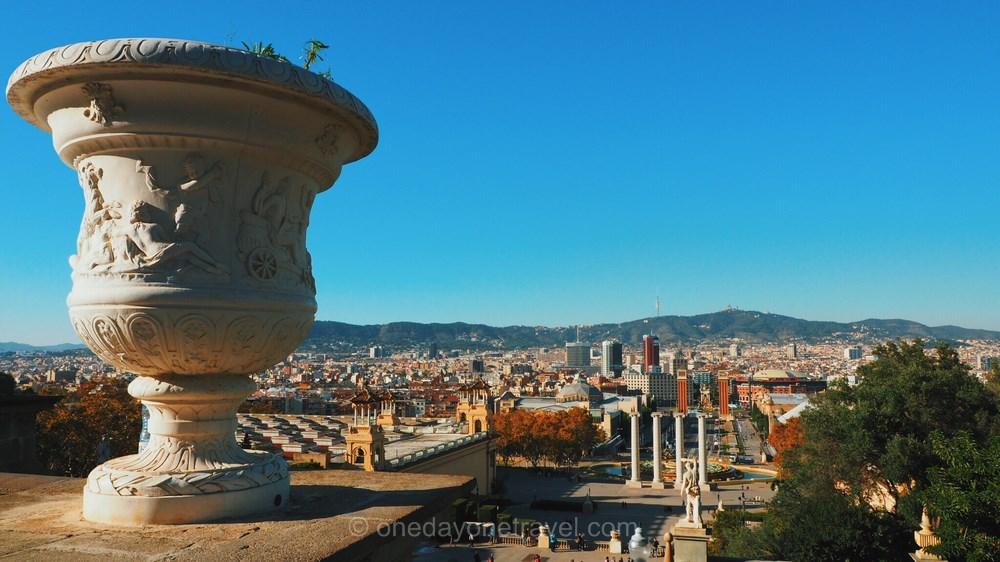 Montjuic barcelone vue blog voyage