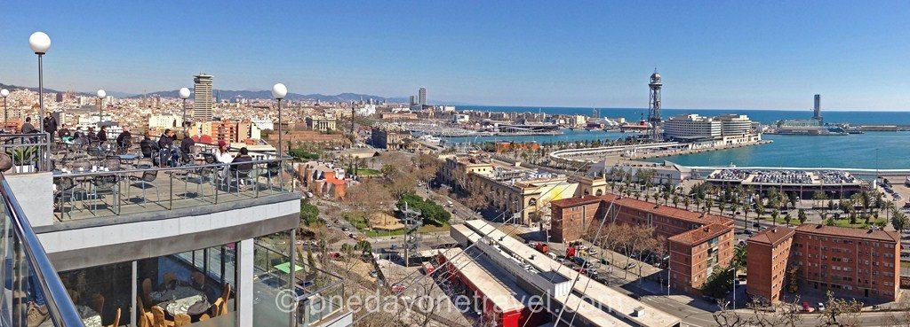 Montjuic barcelone vue mer blog voyage
