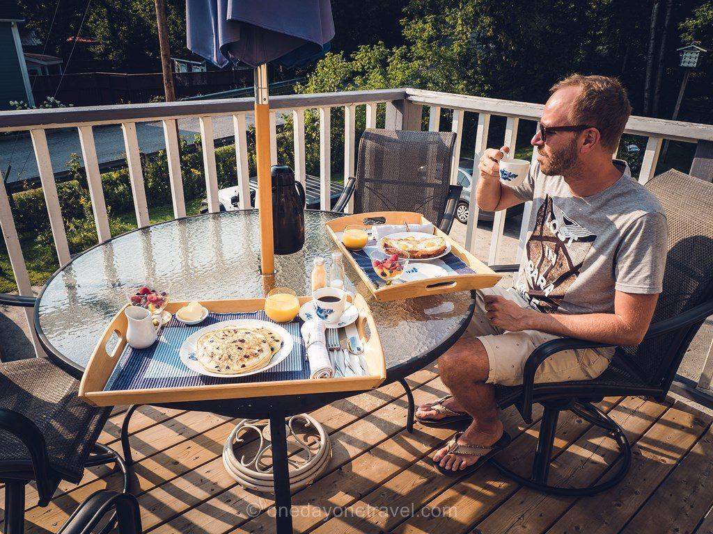 Outaouais Auberge de mon petit Chum road petit déjeuner