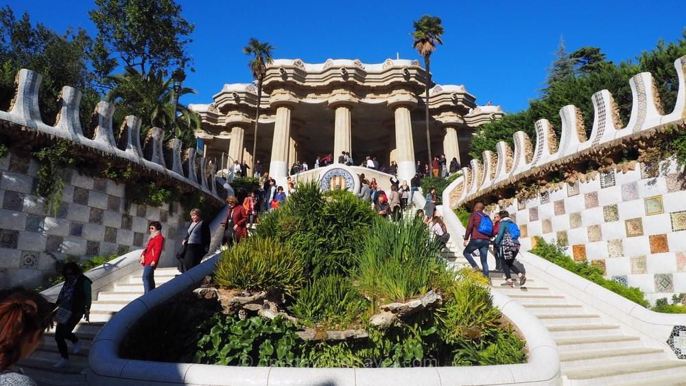 Parc Guell Barcelone escalier