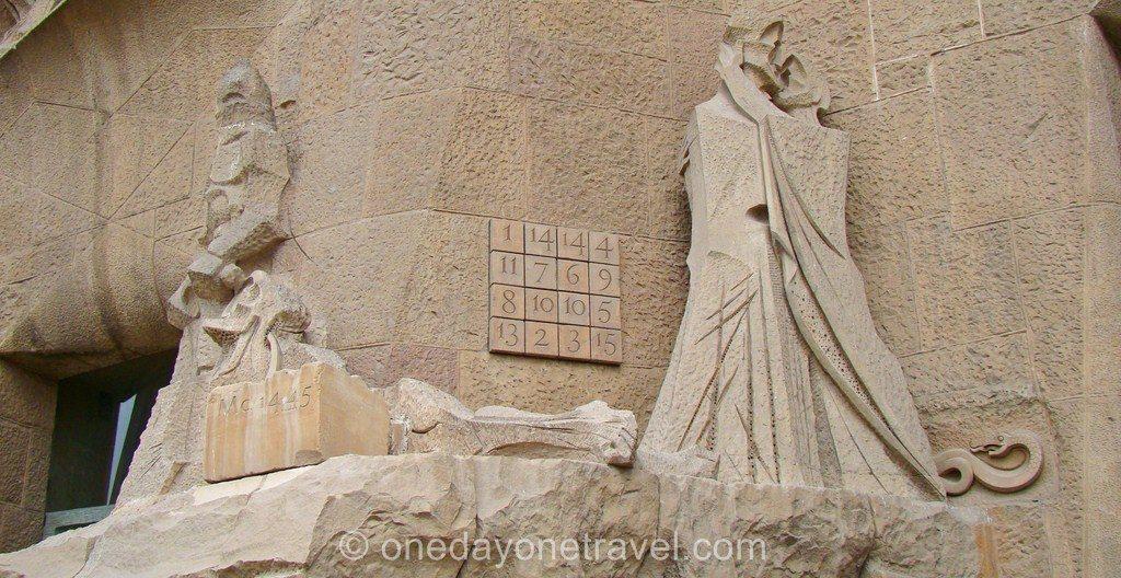 Sagrada Familia Barcelone carré magique Gaudi