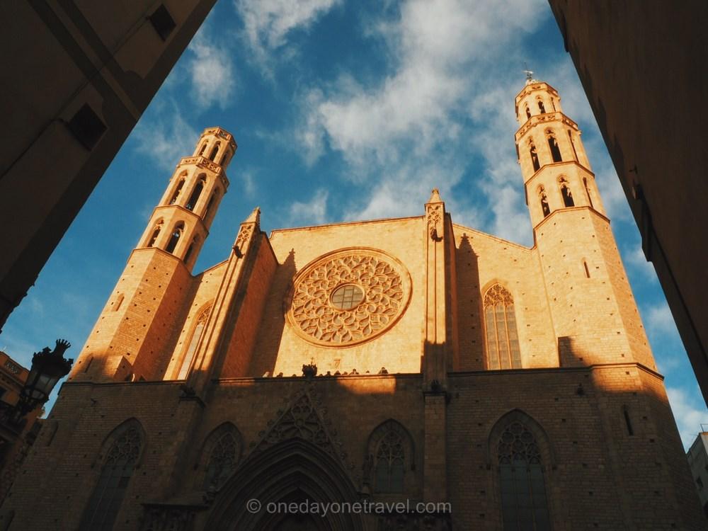 Santa Maria del Mar El Born Barcelona blog voyage OneDayOneTravel
