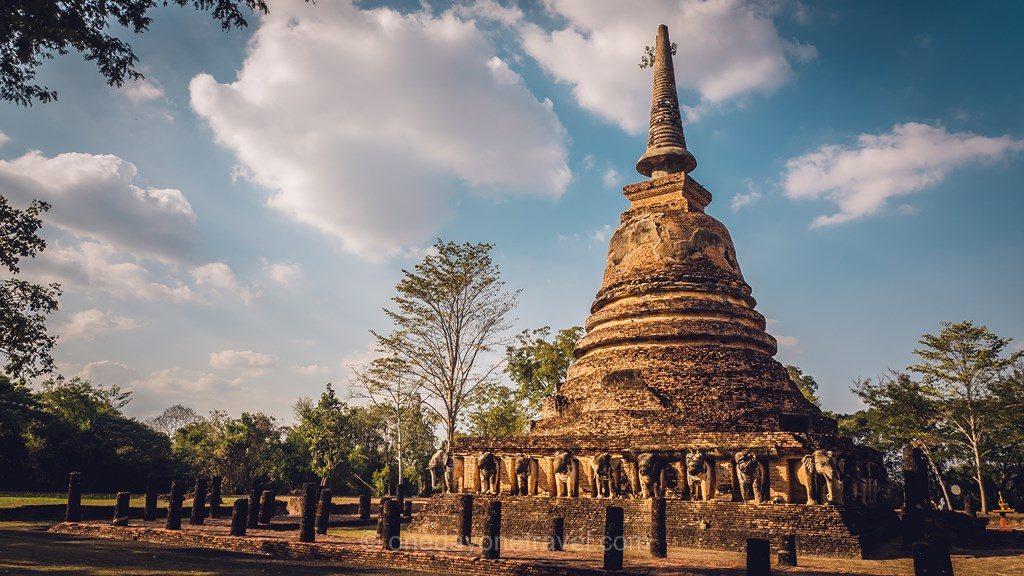 Sukhothai temple aux éléphants