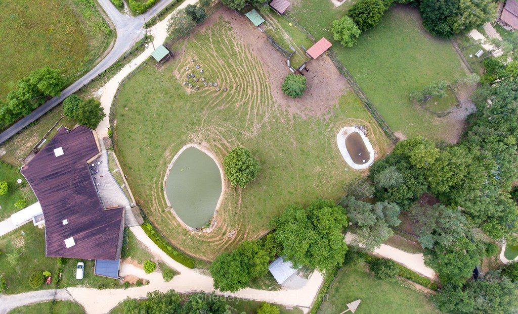 Dordogne Parc du Thot drone