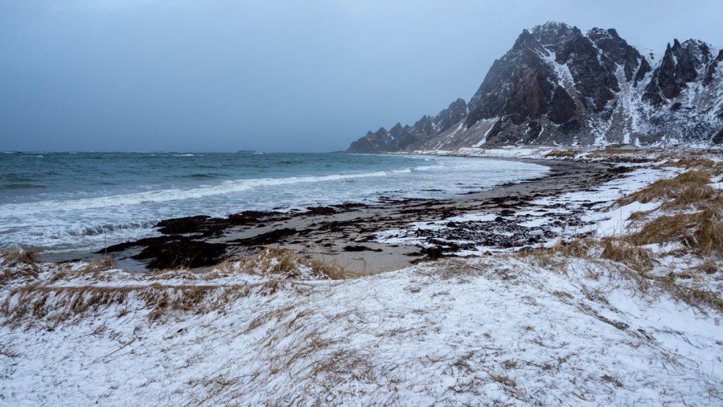 Vesteralen plage sauvage Norvège