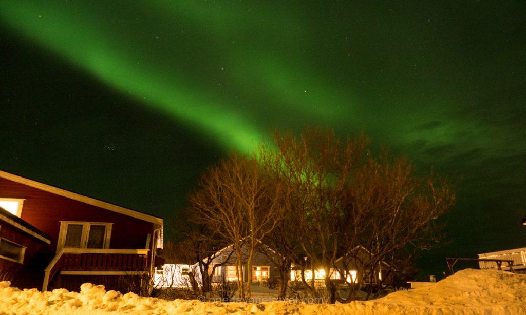 Norvège du Nord Vesteralen aurore boréale