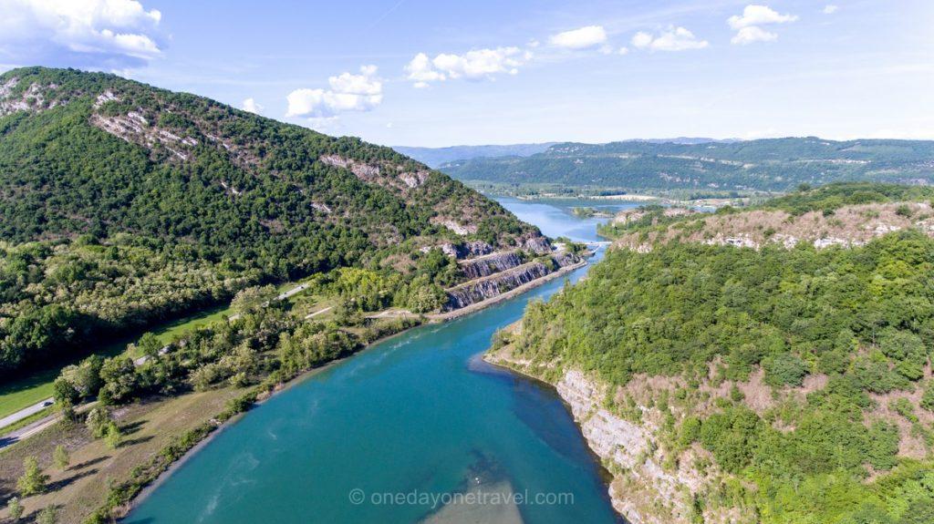 Vue du ciel Paysages rivière Nature printemps