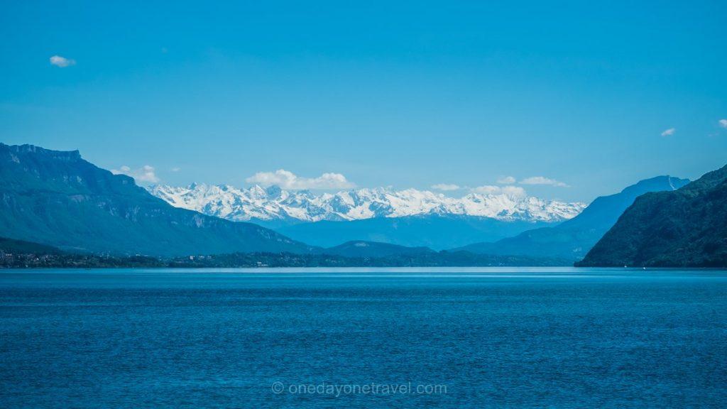 ViaRhona lac bourget alpes neige