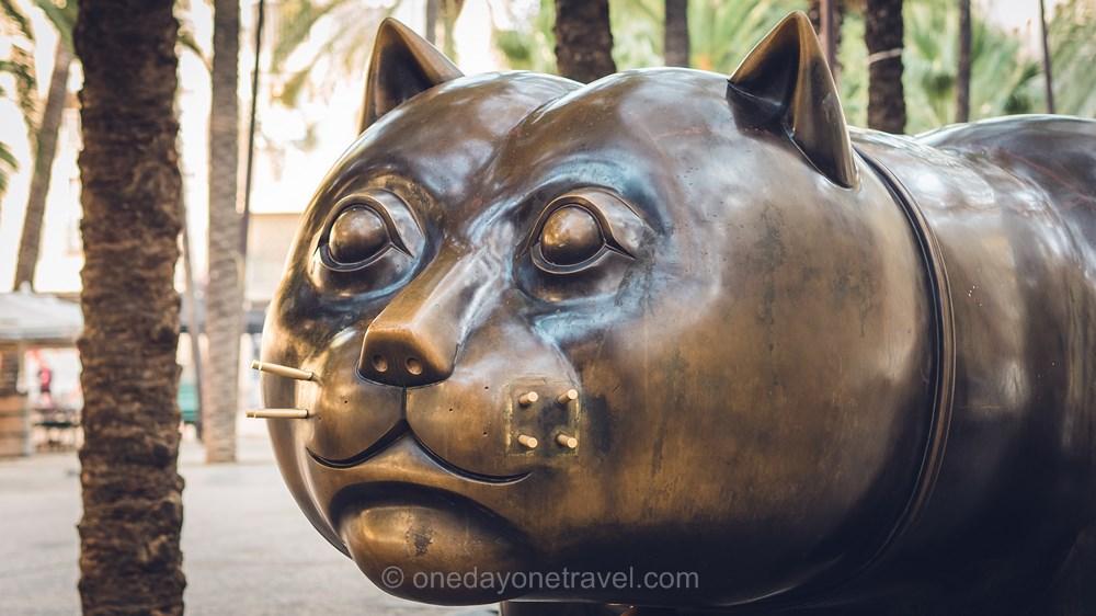 Visiter Barcelone pour la première fois Chat Botero