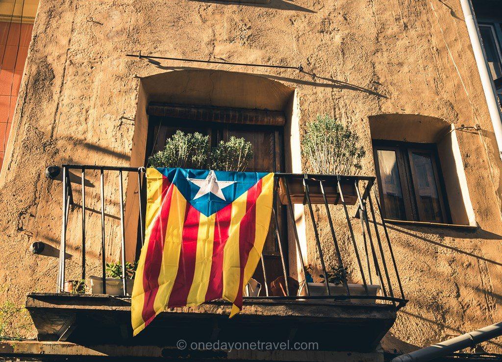 Visiter Barcelone pour la première fois Gracia drapeau