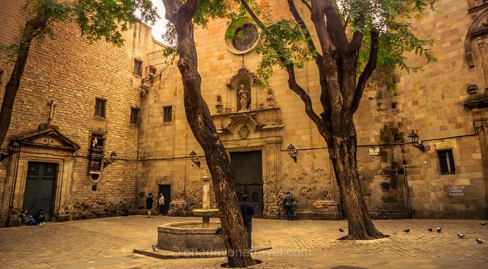 Visiter Barcelone pour la première fois place gothique
