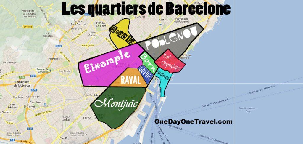 Visiter Barcelone pour la première fois plan carte