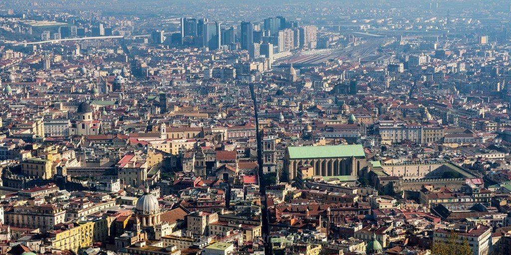 Centre de Naples vue de haut