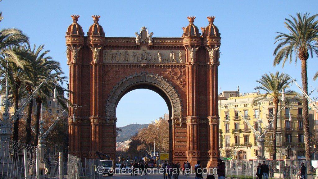 ciutadella arc de triomphe barcelone blog voyage