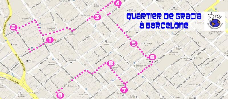 Carte Eixample Barcelone.Gracia A Barcelone Conseils Pour Mieux Visiter Le Quartier