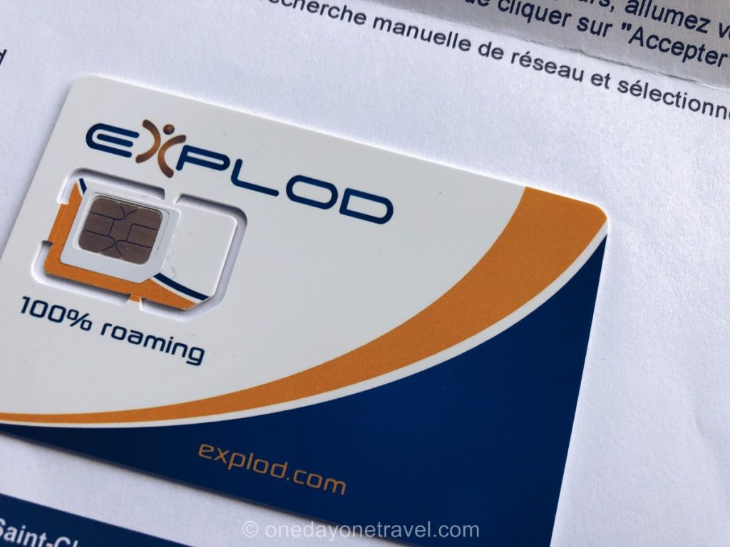 Carte SIM Data internationale Explod Test et avis blog voyage