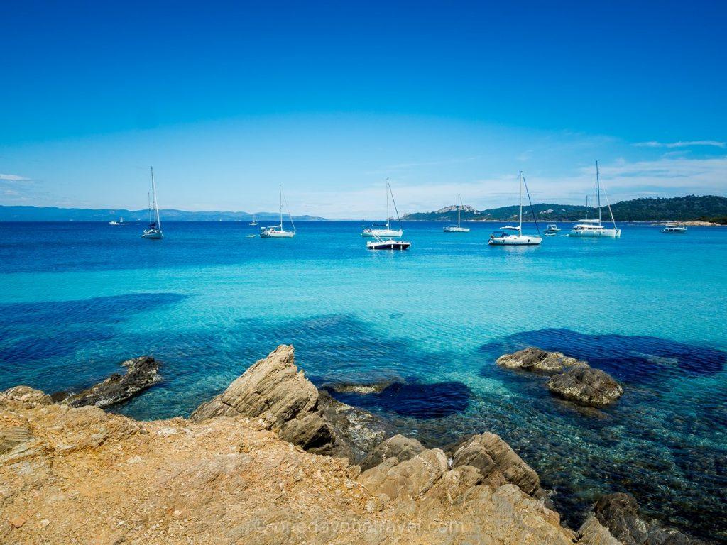 50 nuances de bleu sur les îles d'Hyères