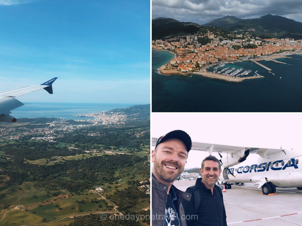 Vol Paris Ajaccio avec Air Corsica survol de la Corse en avion