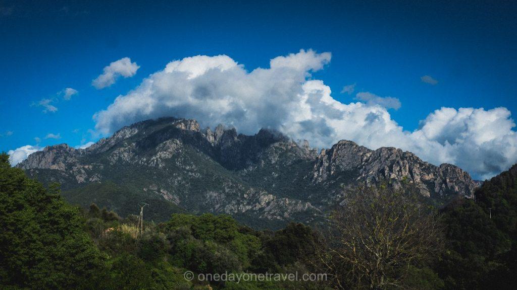 Les montagnes de la région Ouest Corsica - La Sposata