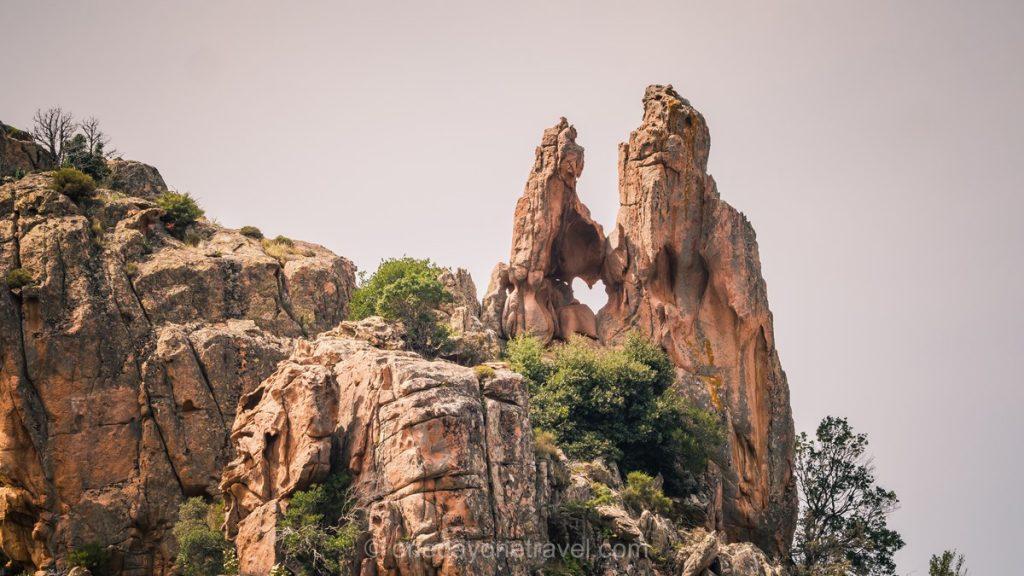 Le coeur des calanques de Piana en Ouest Corsica