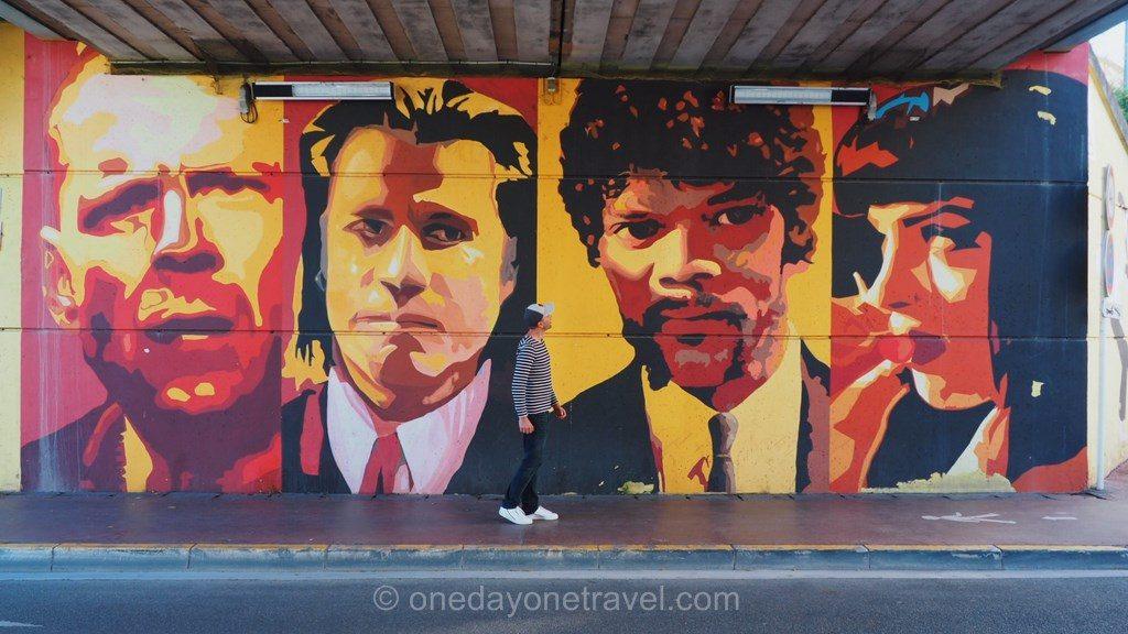 Road trip dans les sud de la France street art Cannes
