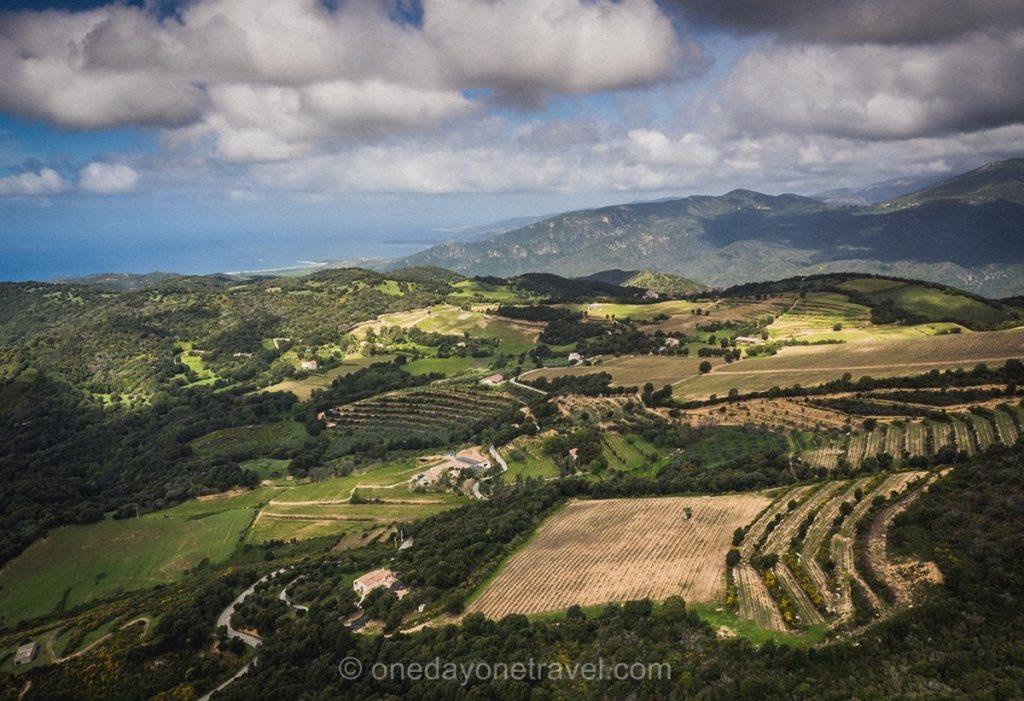 Clos d'Alzeto ouest Corsica - Vue par hélicoptère