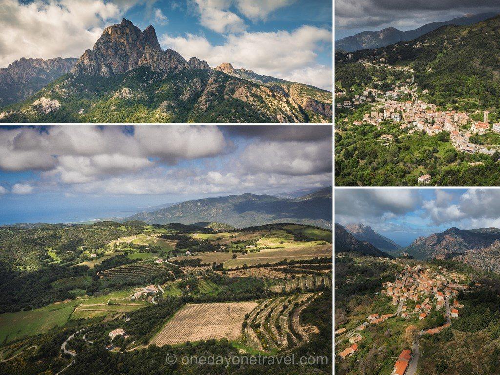 Survol de Ouest Corsica côté montagne en hélicoptère