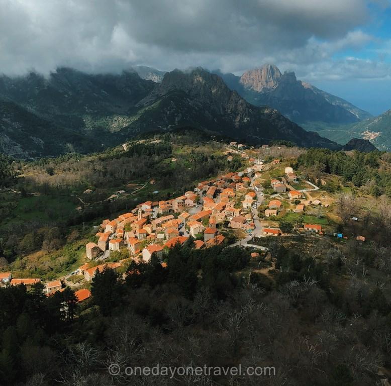 Evisa village montagne Ouest Corsica