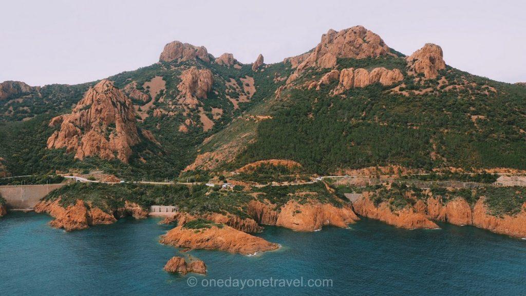 Road trip dans le sud de la France massif de l'Estérel