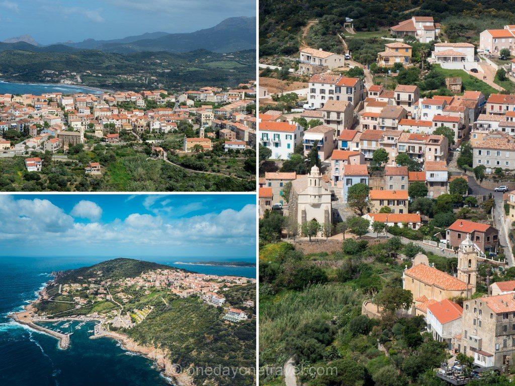Cargèse vue du ciel en Ouest Corsica