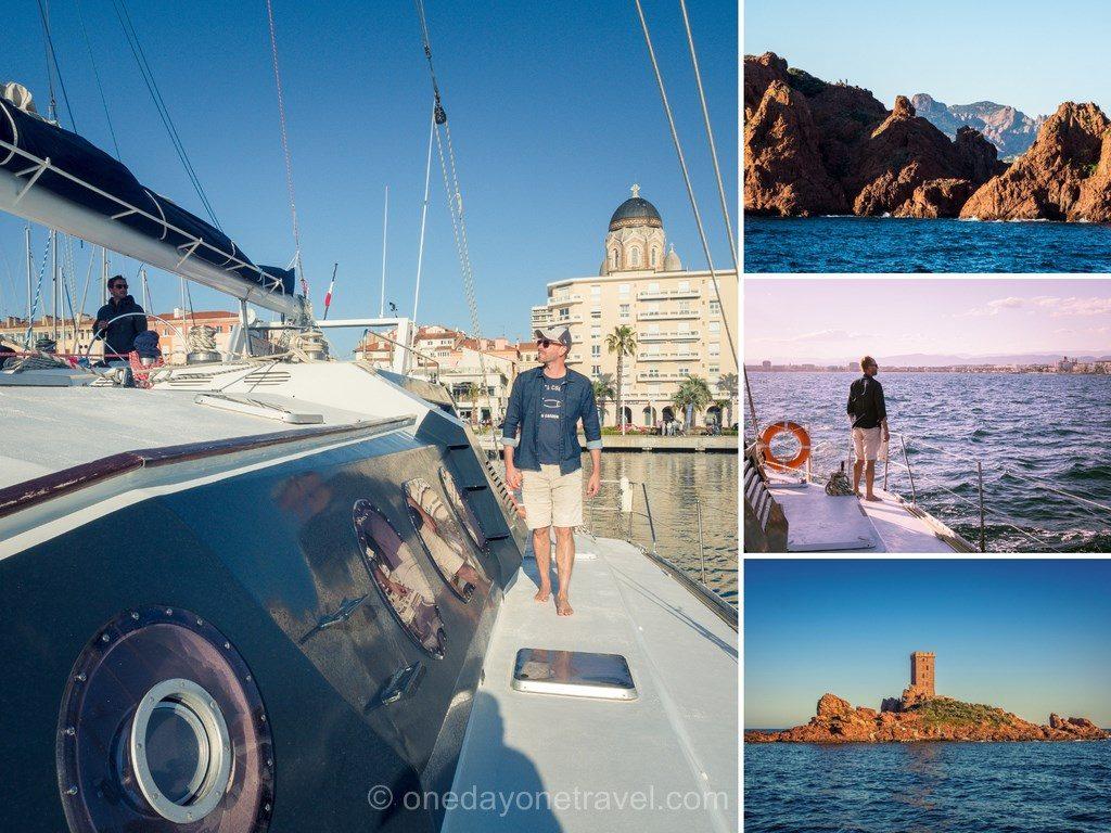Sorti en mer en catamaran depuis Saint-Raphael