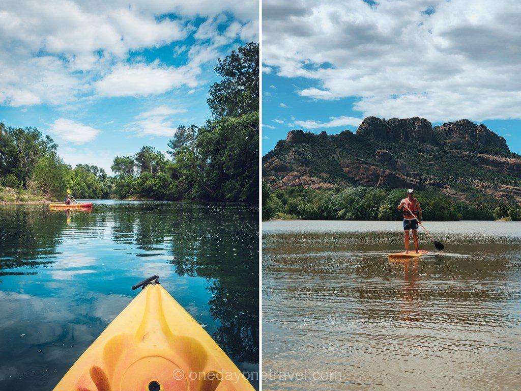 Paddle et Kayak devant le Rocher de Roquebrune