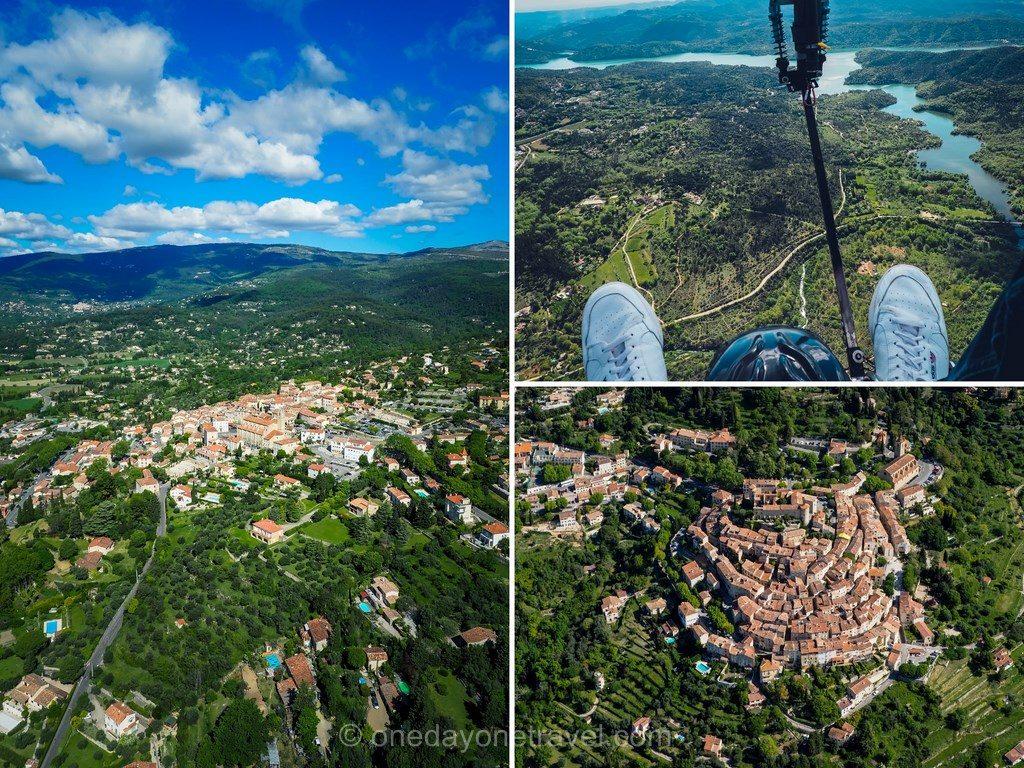 Baptême de l'air en paramoteur en Pays de Fayence - estérel Côte d'Azur