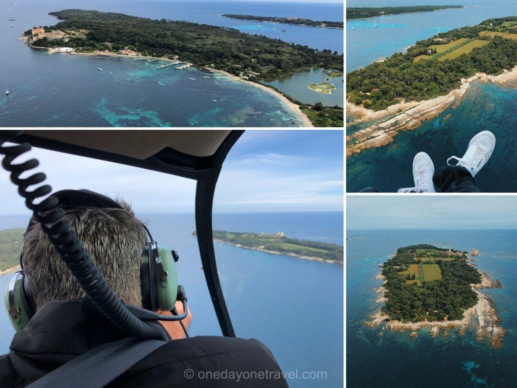 Road trip dans le sud de la France Ile Saint Honorat Hélicoptère
