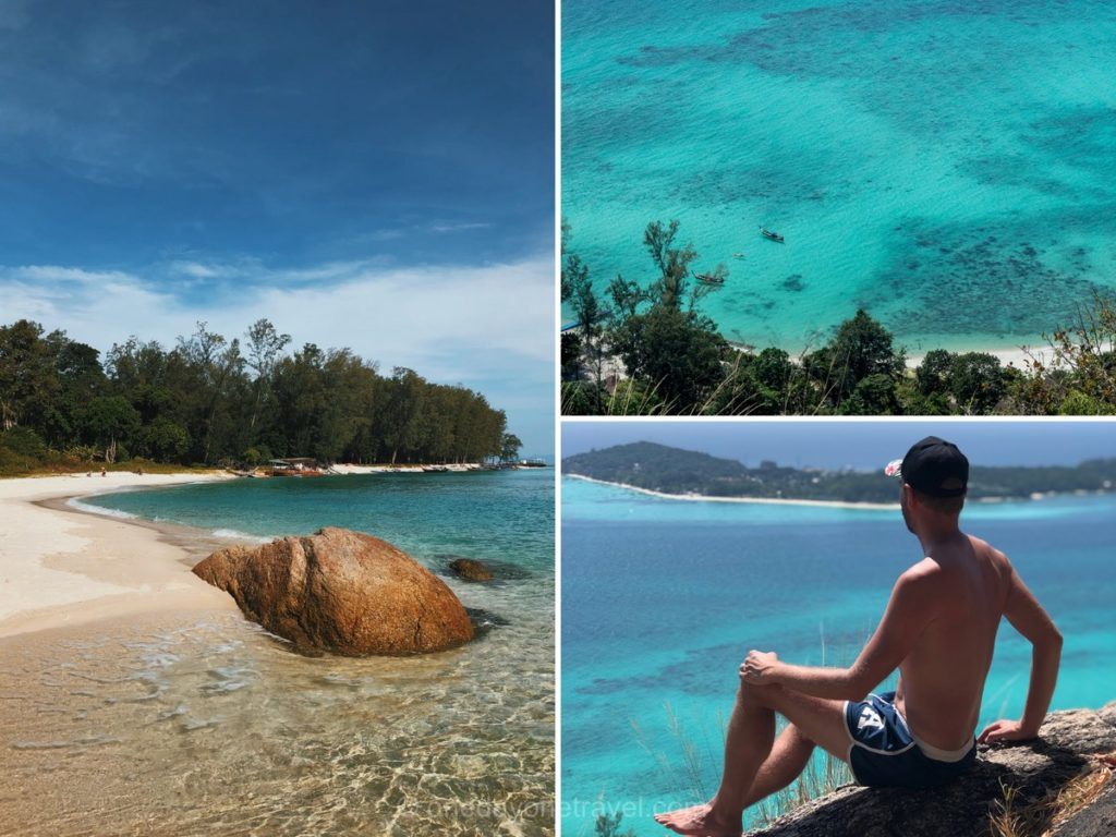Koh Adang randonner vers le sommet de l'île