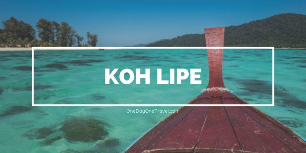 Koh Lipe ile de Thailande en mer d'Andaman Blog Voyage OneDayOneTravel
