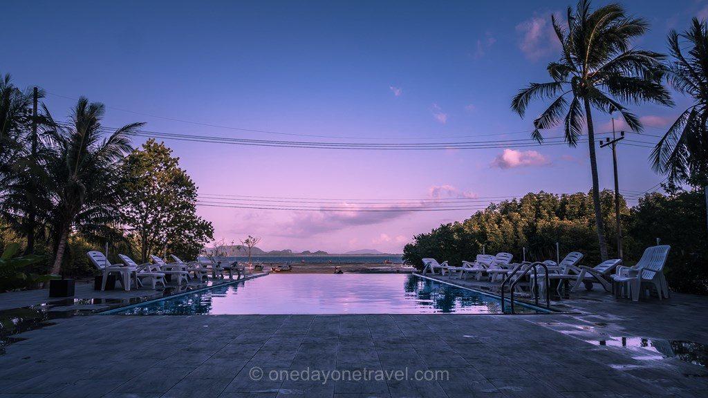 Piscine du Great Sun resort à Koh Mook en Thaïlande du Sud