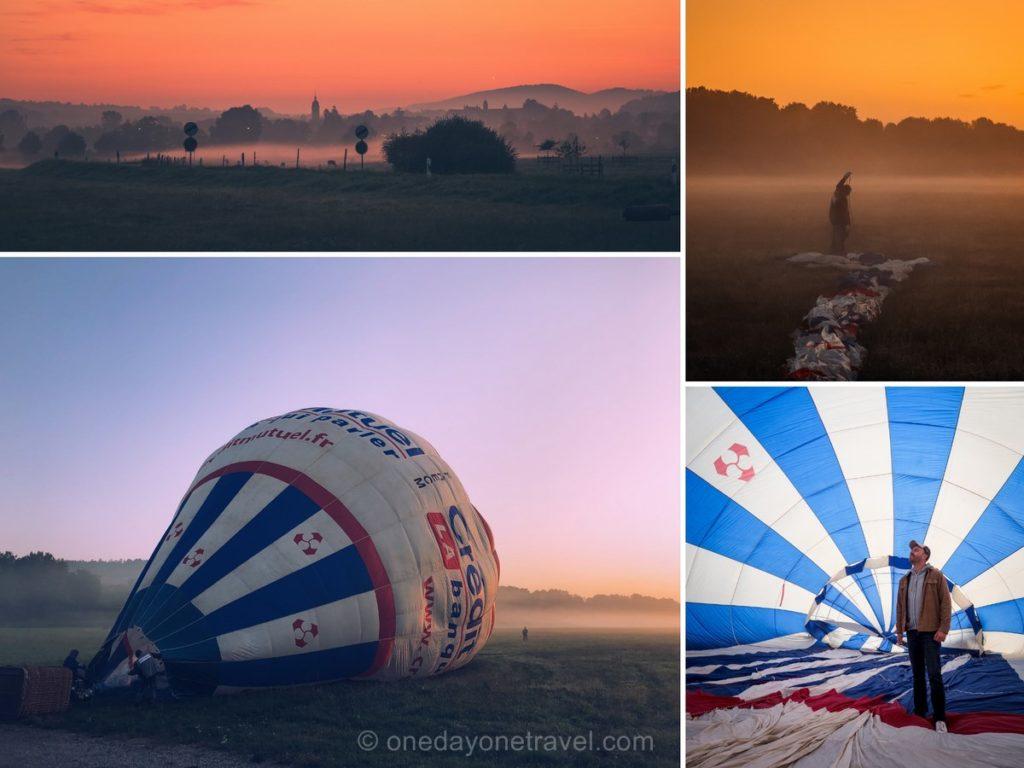 Vol en Montgolfière au lever du soleil
