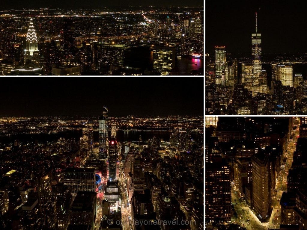 Rooftop de l'Empire State building de nuit - Visiter Manhattan New York