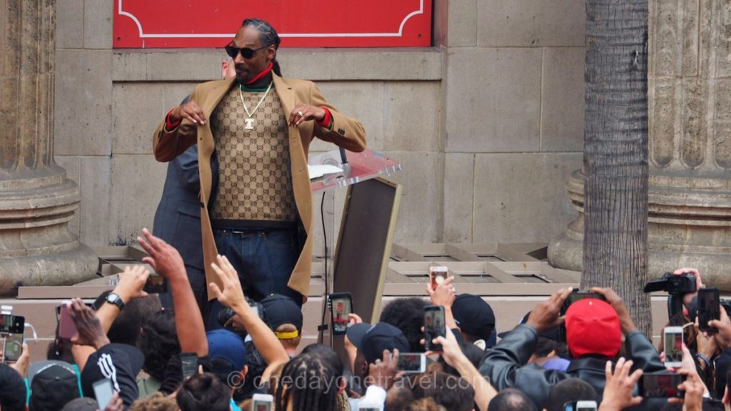 Rappeur Snoop Dogg lors de son étoile sur le Walk of Fame de Los Angeles