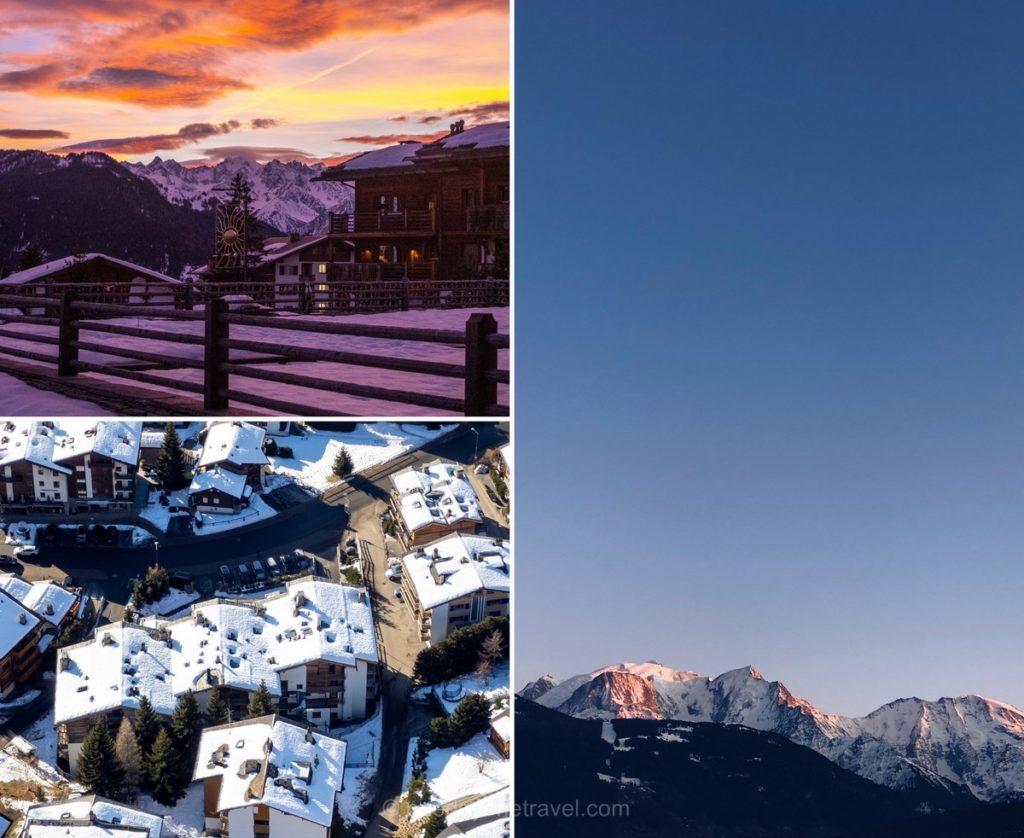 Hôtel La Cordée des Alpes - Vue depuis le ciel et depuis la chambre
