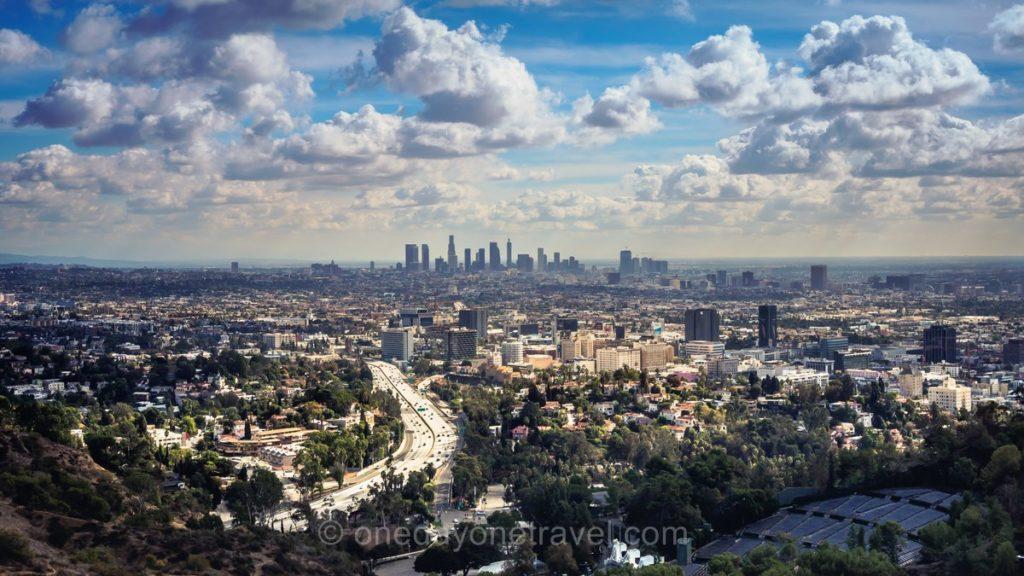 Carte postale de Los Angeles depuis Mulholland drive
