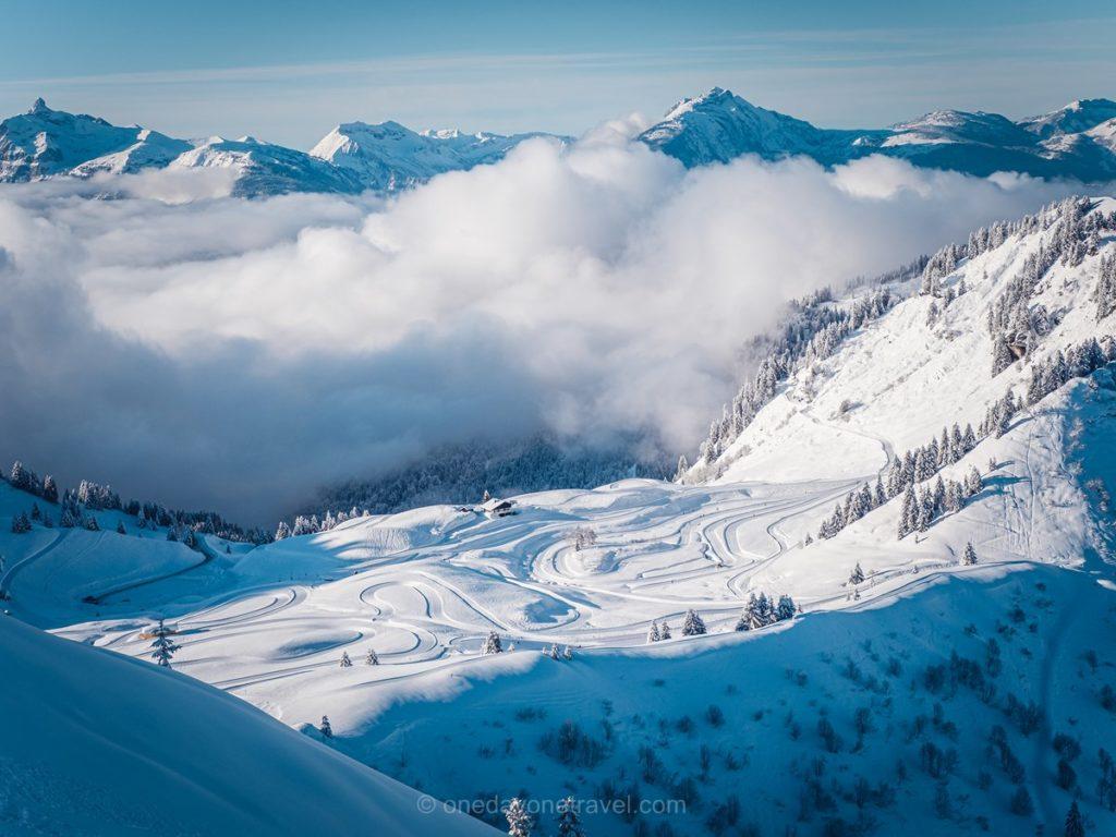 Vue exceptionnelle sur le domaine skiable de Morzine